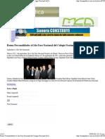 9-9-11 Reune Personalidades El 2do Foro Nacional Del Colegio Nacional de Economistas