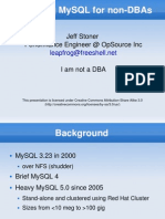 MySQL for NonDBAs