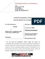 Taitz v Astrue - Motion for Reconsideration(Draft) - Obama's Social Security Number
