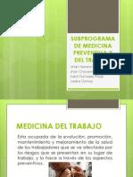 Sub Program A de Medicina Preventiva y Del Trabajo-exposicion