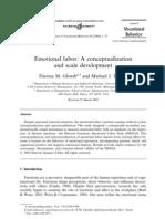 Emotional Labor. a Re Conceptualization
