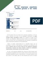 El 53% de las empresas españolas consigue clientes gracias a las redes sociales