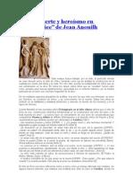Amor Muerte y Heroismo en Euridice de Jean Anouilh