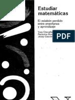 ESTUDIAR MATEMÁTICAS. YVES CHEVALARD
