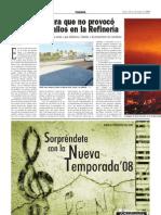 Unelco asegura que no provocó los últimos fallos en la refinería PAR (11-09-2008)