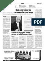 El PSOE pide al Gobierno todos los ESTUDIO DE CONTAMINACIÓN QUE TENGA (18-06-099