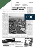 Santa Cruz debatirá exigirle a Sanidad que estudie el daño de la refinería (16-06-09)