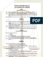 2 - CIBINE - Código de Disciplina Para Igrejas
