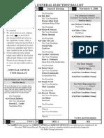 2008 Presidential Candidates on Ohio's Ballot