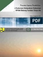 Presentasi Pendahuluan RPIJM Perbaikan Tgl 15 Agust 2011