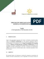 Diploma de Especializacion en Justicia Constitucional 2011