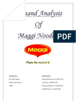 Demand Analysis of Maggi