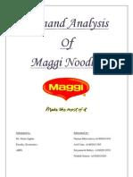 Demand Analysis of Maggi
