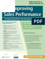 Improving Sales Performance