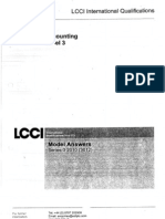 LCCI Accounting Level 3 Model Answers Series 3 2010(3012)