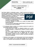 chapitre socialisation 2008-2009 première