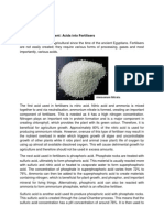 Acids in Fertilisers