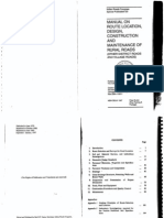 IRC SP 20 Manual on Route Location Design Construction and M