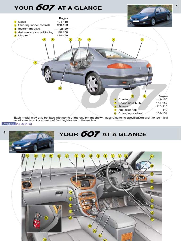 peugeot 607 owners manual 2003 seat belt airbag rh es scribd com Peugeot 807 Peugeot 508