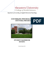 Ph D in Counseling Psychology Handbook 2010-2011