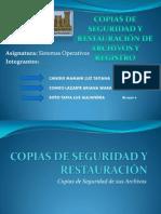 Copias de Seguridad y restauración de archivos y Registro