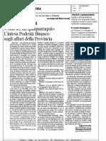 «Non sei un quaquaraquà» - L'intesa Podestà-Binasco sugli affari della Provincia
