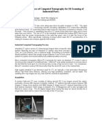 Uses and Advances of Computed Tomography for 3D Scanning of Industrial Parts