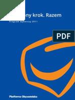 Program Wyborczy PO 2011