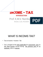Lecture 1 - Introduction - Income - Tax