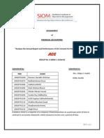 Final Report Finance