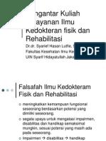 Pelayanan Rehabilitasi Medik Pada Pelayanan Primer