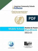 MS Student Parent Handbook 2011-12