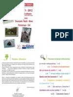 Livret Centre Loisirs 2011-2012