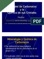 Minerales de Carbonatos y la Química de sus Cristales