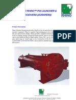 Ergil Rhino Pig Receiver and Launcher Datasheet