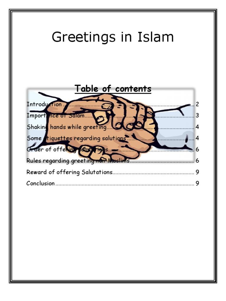 Greetings in islam muhammad hadith m4hsunfo