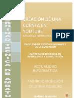 CREACION DE UNA CUENTA EN YOUTUBE