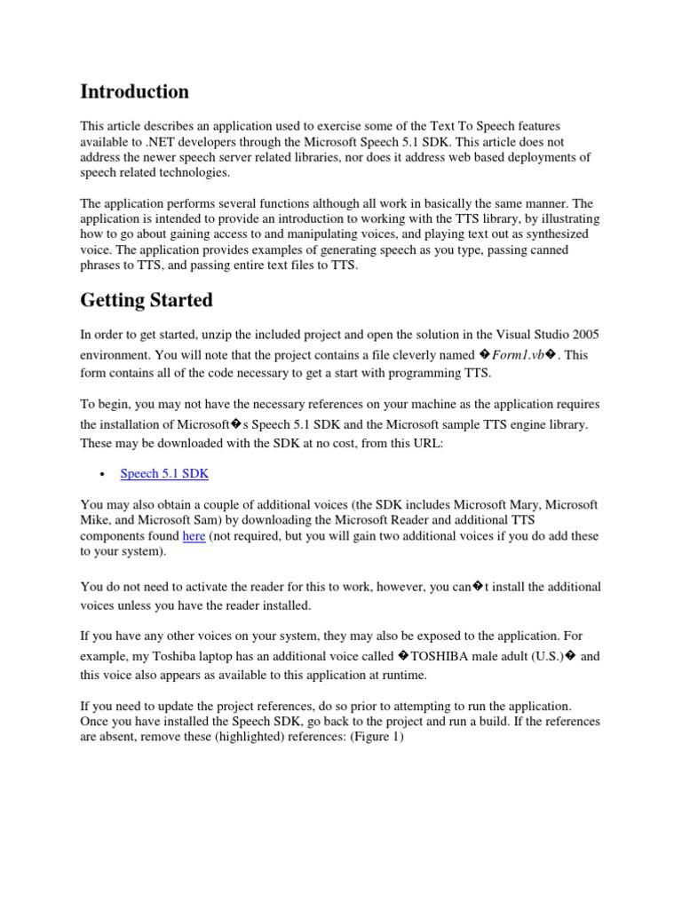 TTReader | Speech Synthesis | Subroutine