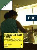 Nicaragua Violencia Sexual Contra Ninias