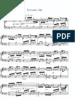 Bach F Minor Prelude & Fugue 12 Book 1 WTC