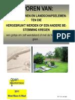 Sporen 2011 Boekje hergebruik