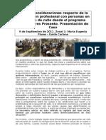 Algunas consideraciones respecto de la intervención profesional con personas en situación de calle desde el programa Buenos Aires Presente. Presentación de Caso