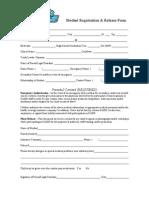 Oasis Registration Sheet