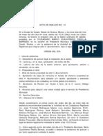 Acta de Cabildo No 14 2011