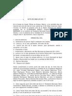 Acta de Cabildo No 17 2011
