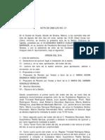 Acta de Cabildo No 21 2011