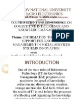 Competitive Intelligence and Knowledge Management Conference Presentation