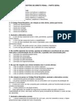 DIREITO PENAL - 100 Questões