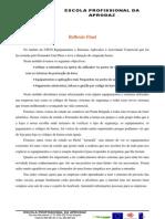 Reflexão equipamentos e sistemas aplicados a actividade comercial
