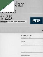 PC-Nikkor 35 mm f-2.8